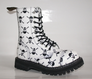 105-106/O/FULL WHITE/BLACK SKULLS WYPRZ